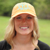 Monogrammed Tangerine Baseball Hat on Model