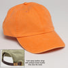 Tangerine Orange Baseball Hat with Adjustable Strap