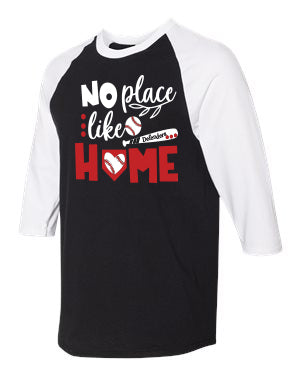 No Place Like Home Defenders Baseball New 2019 Spirit Wear-Gildan - Heavy Cotton Three-Quarter Raglan Sleeve Baseball T-Shirt