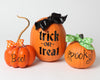 Trick or Treat, Spooky and Boo Pumpkin Vinyl