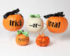 Large trick or treat pumpkin vinyl with Boo and Spooky