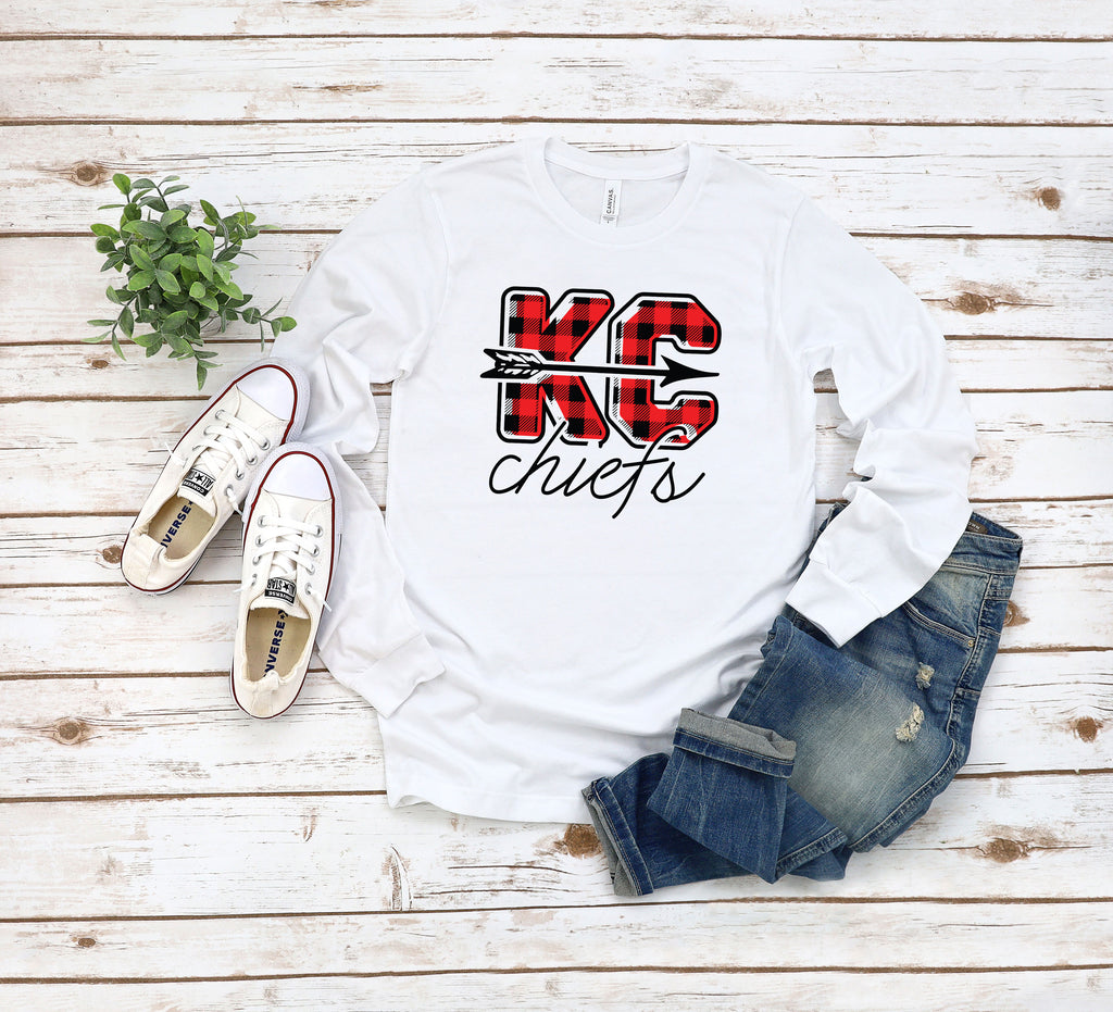Buffalo Check Kansas City Chiefs Tee Shirt