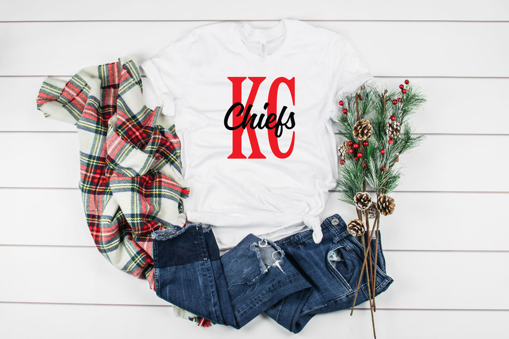 Chiefs Block Letter Tee Shirt