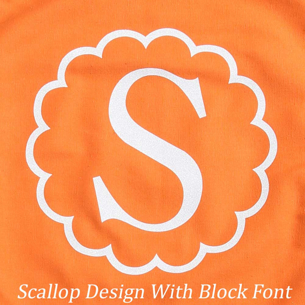 Scallop Design with Block Font