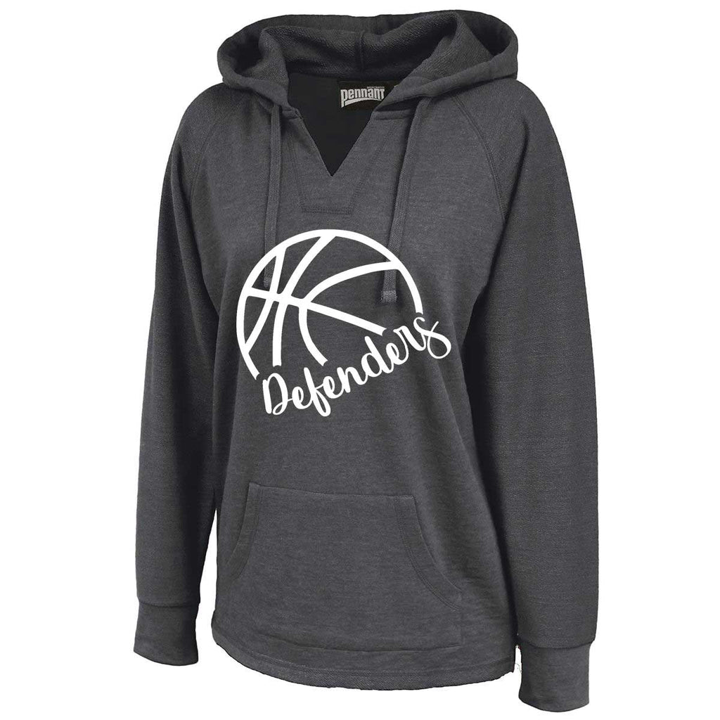 Defenders Side Basketball Spirit Wear Sweat Shirt -Pennant Sportswear Women's Volley Hoodie Black