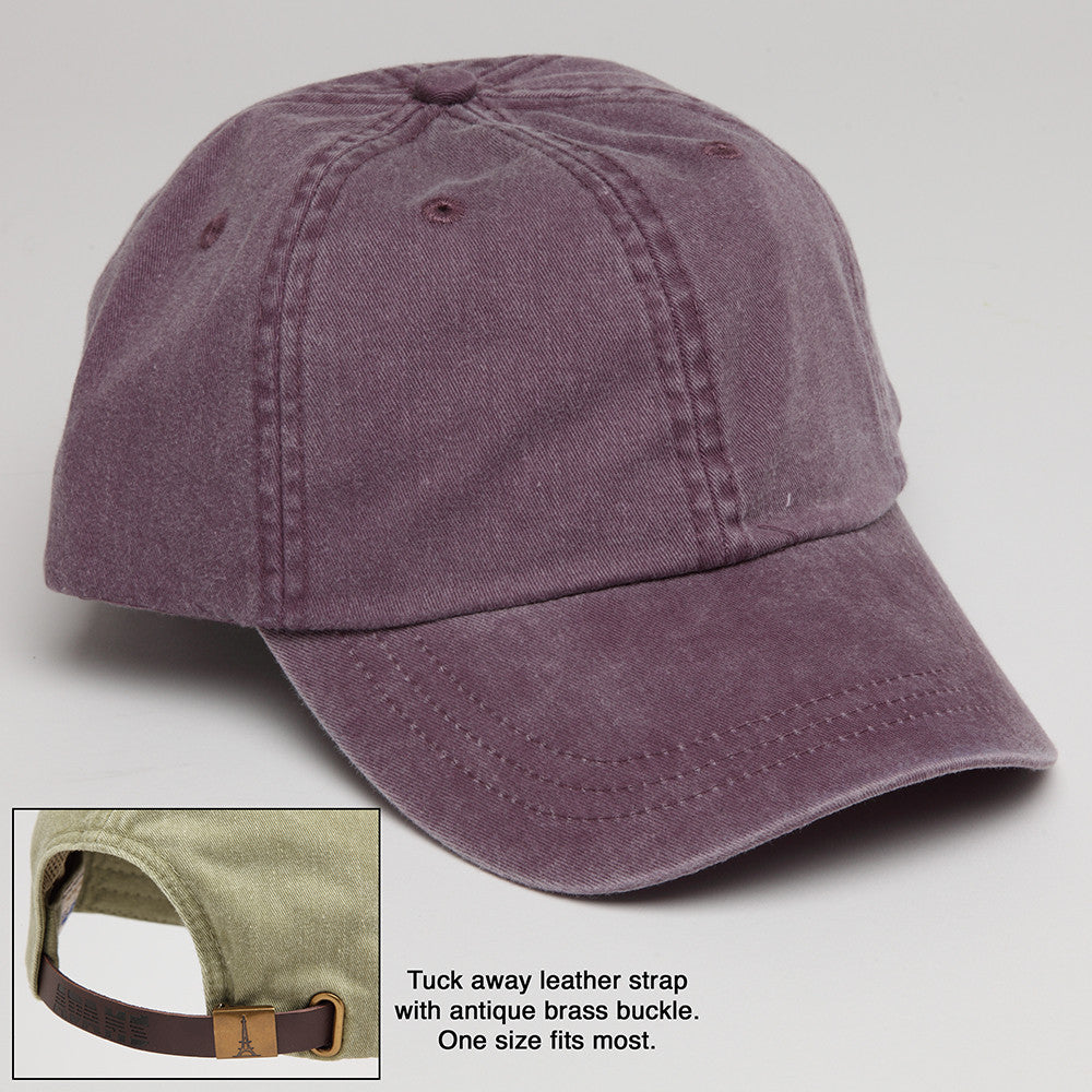 Wild Plum Baseball Hat with adjustable strap