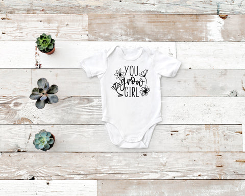 You Grow Girl Rabbit Skin Body Suit in Gray, White or Black