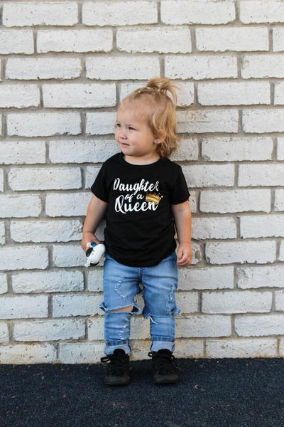 Daughter of a QUEEN kids Tee