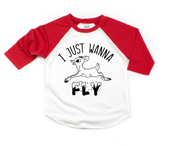 I Just Wanna Fly Baseball Tee