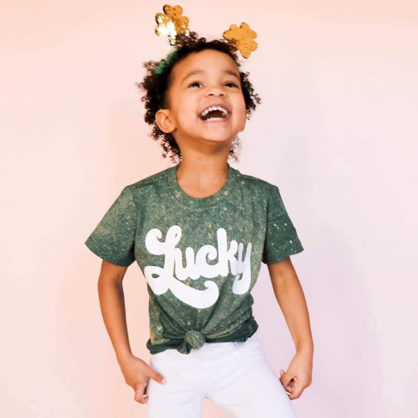 *LIMITED* COLORWASH Green Lucky Tee