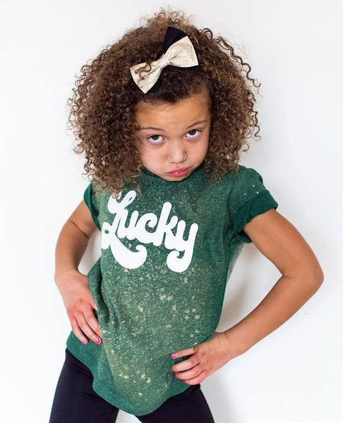 **LIMITED** COLORWASH Green Lucky Tee