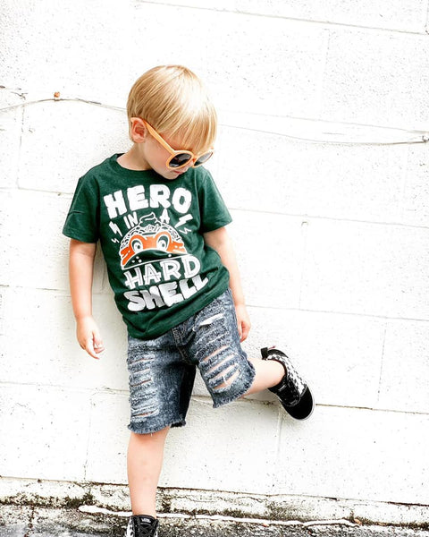 Hero in a Hard Shell Kids Tee