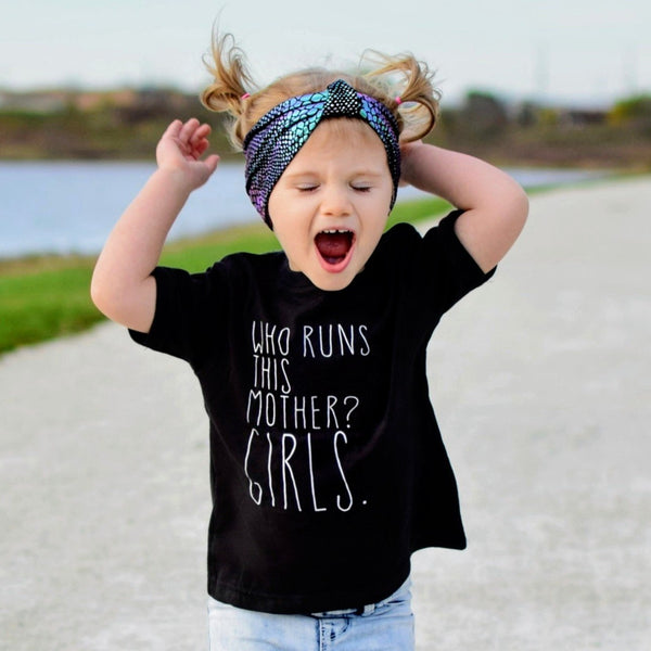 Who Runs This Mother? Girls - Kids Tee