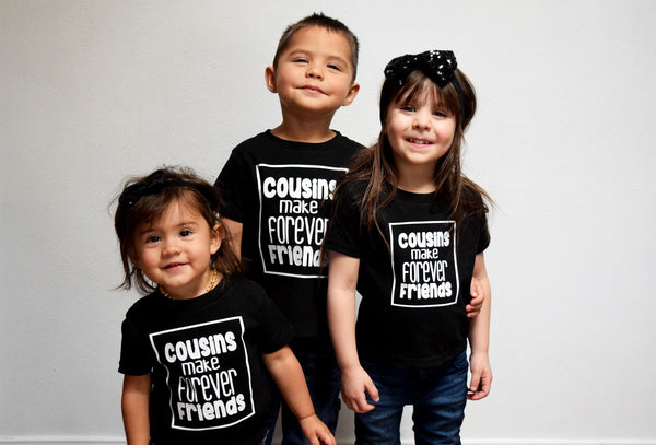 COUSINS make forever FRIENDS bodysuit
