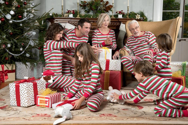 Women's Long Holiday Striped Pajamas