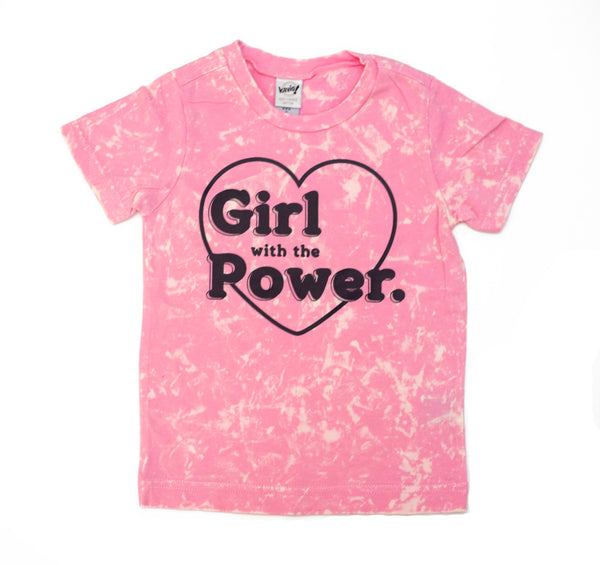 Girl with the Power Kids Colorwash Tee