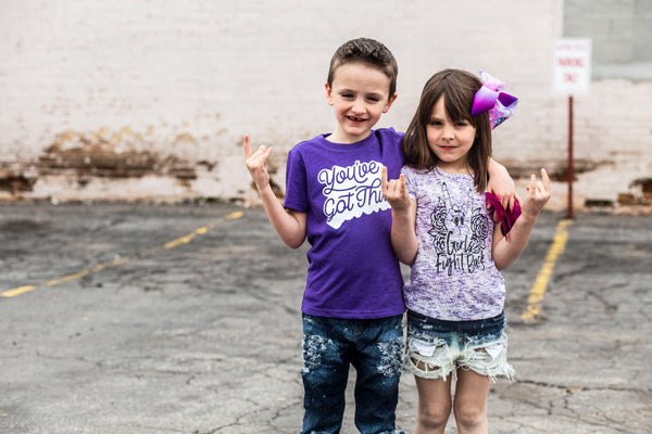 You've Got This Purple Kids Tee