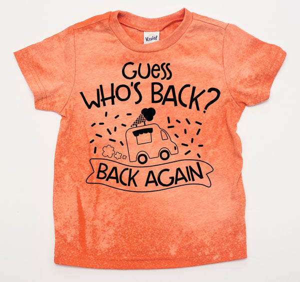 *LIMITED* Creamsicle Dyed Guess Who's Back Tee