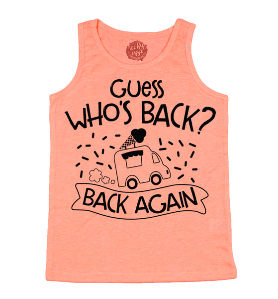 Guess Who's Back Kids Unisex Scoopneck Tank