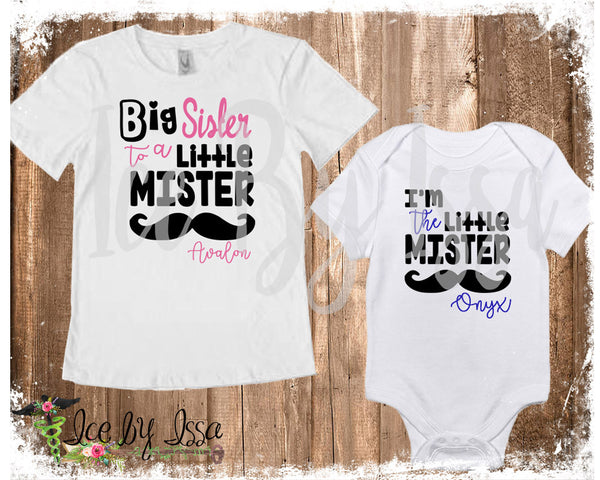 BIG Sister to a LITTLE Mister Set
