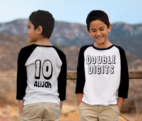Double Digits Youth Baseball Tee