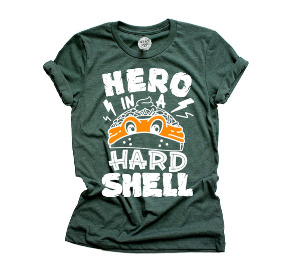 Hero in a Hard Shell Adult Triblend Unisex Tee