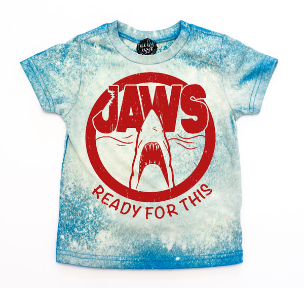 JAWS Ready for This Colorwash Blue Tee