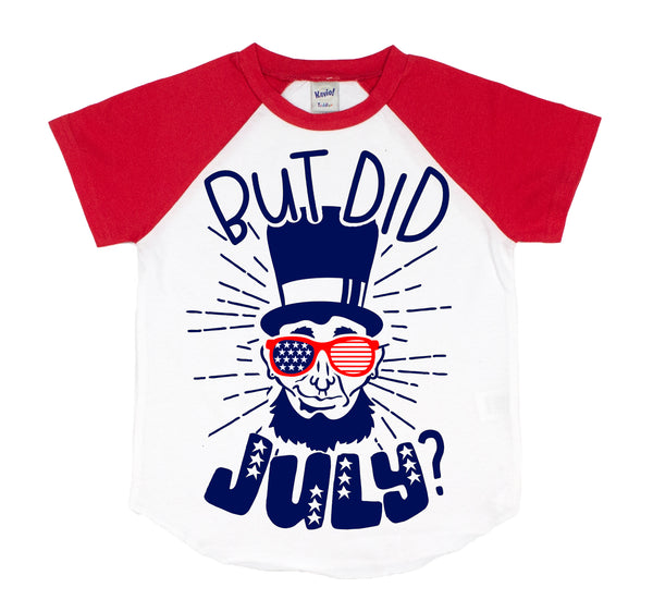 But Did JULY Kids Unisex Raglan Short Sleeve Tee