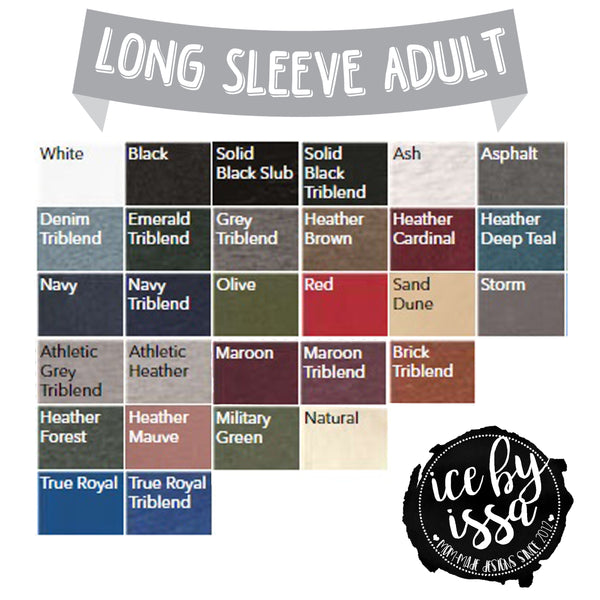 Long Sleeve Adult Add-On