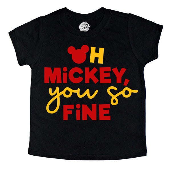 Oh Mickey You so Fine Kids Tee