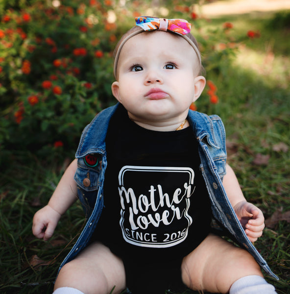 MOTHER LOVER Black Tee/Bodysuit