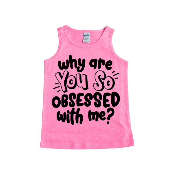 Why Are you So Obsessed with Me? Unisex Scoopneck Tank