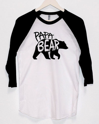 PAPA BEAR and BABY BEAR Baseball Tee Set