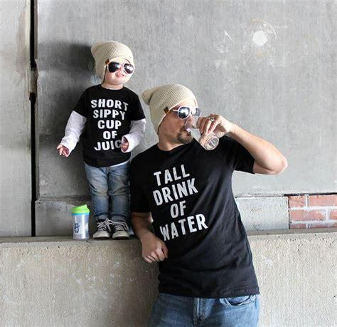 Tall Drink of Water/Short Sippy Cup of Juice Onesie & T-shirt Set