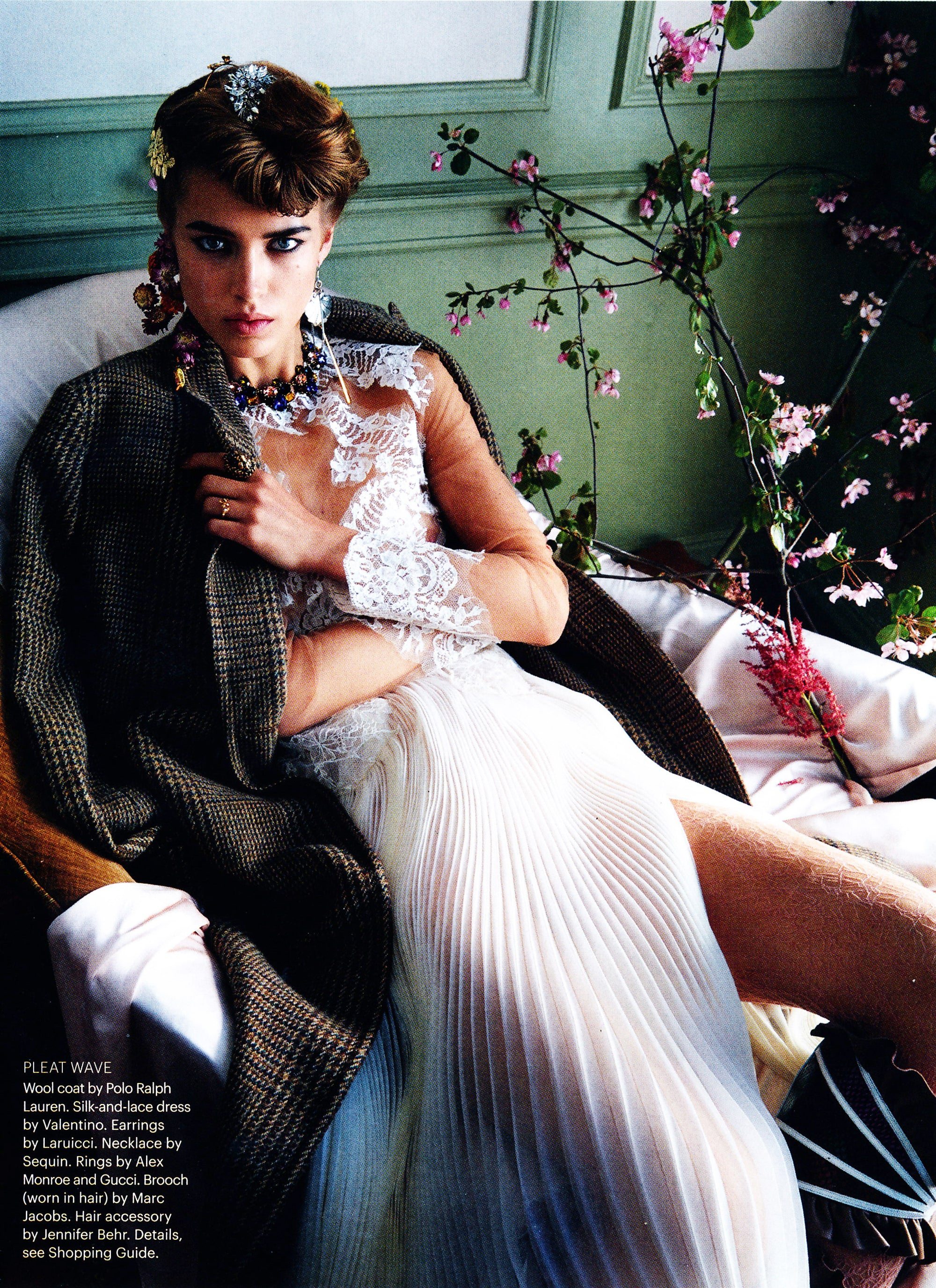 Sequin Necklace featured in the August issue of Allure