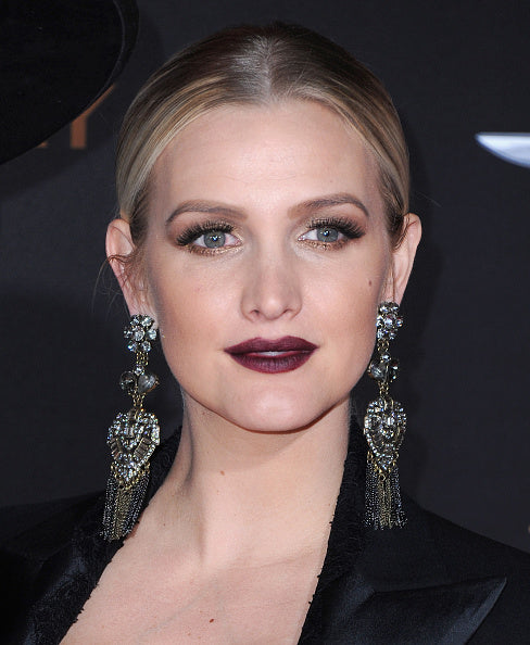 Ashlee Simpson in Sequin deco tassel earrings