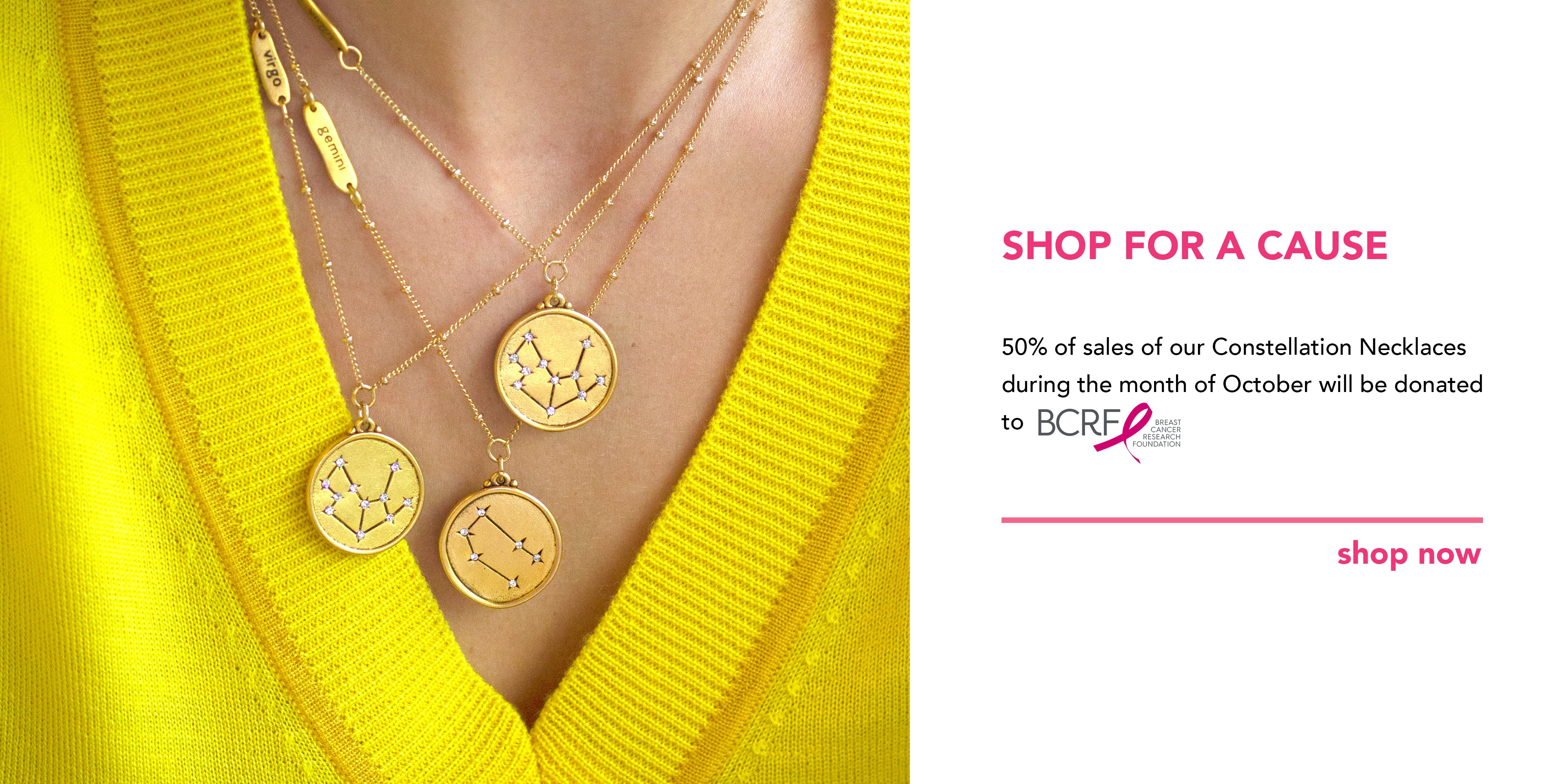 Shop to Benefit BCRF for Breast Cancer Awareness Month