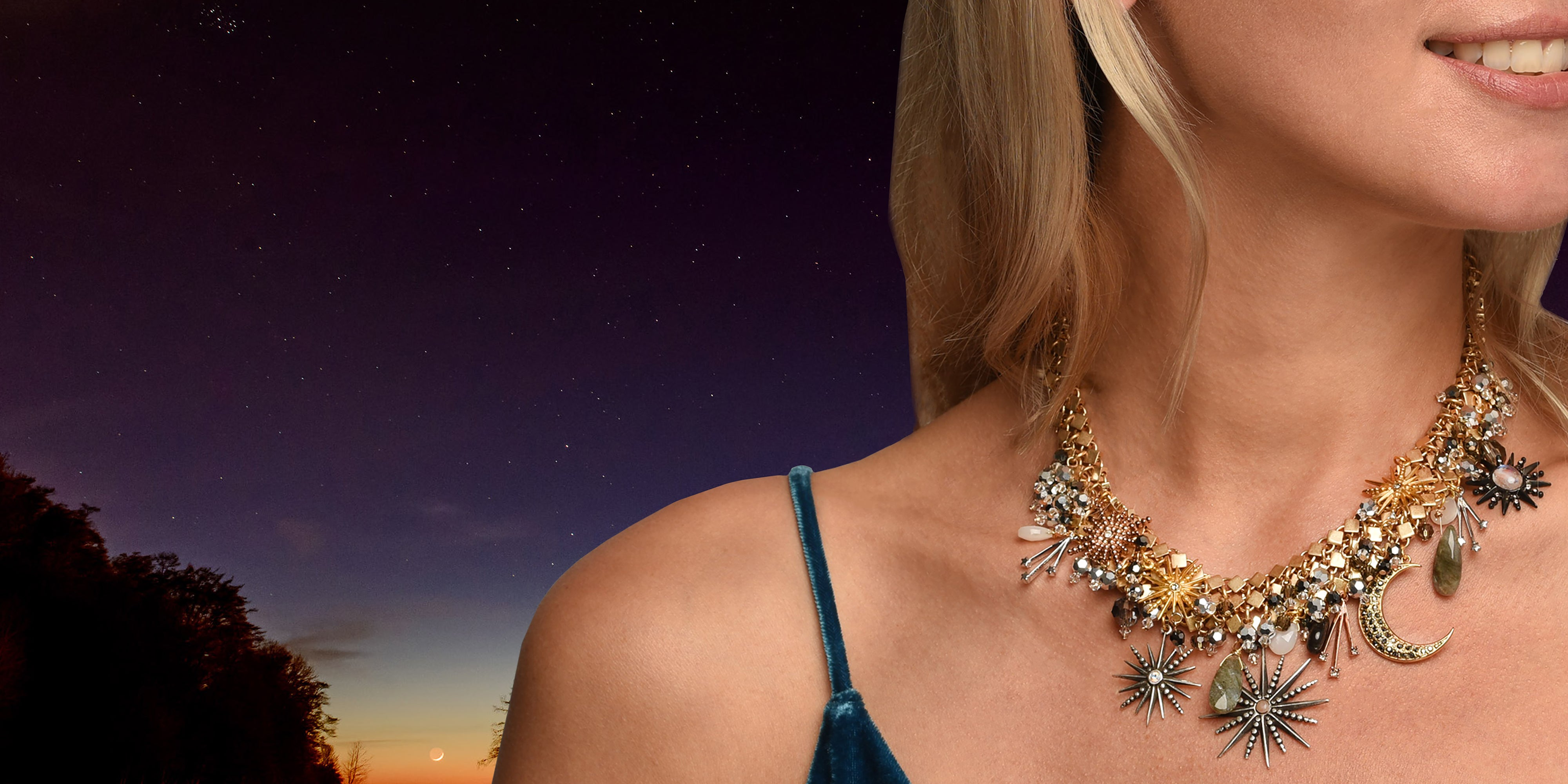 Celestial Statement Necklace Collection