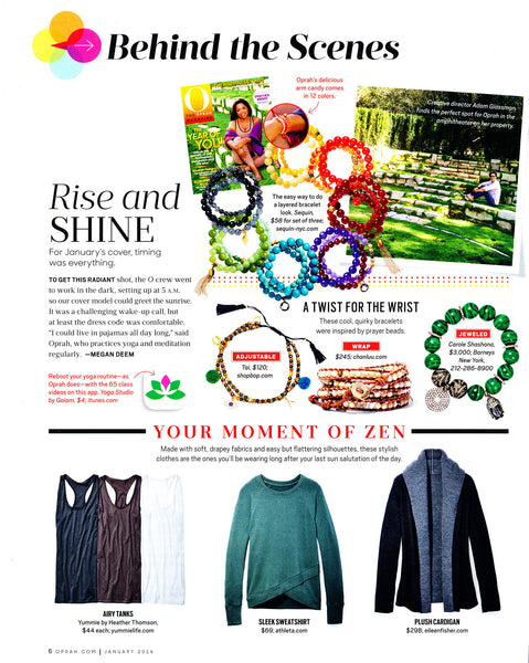 O, The Oprah Magazine January 2016 - Behind the Scenes