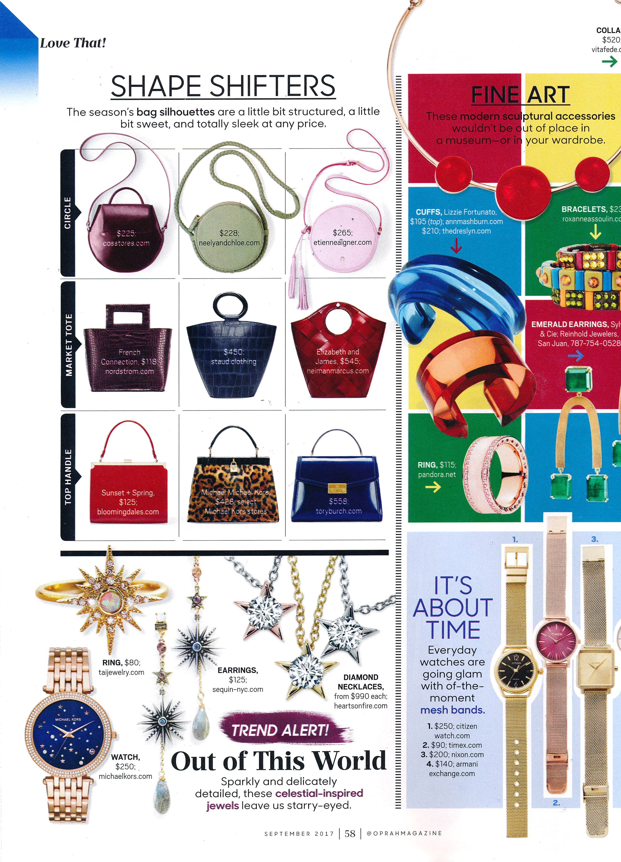Sequin Earrings Featured in the September Issue of O Magazine