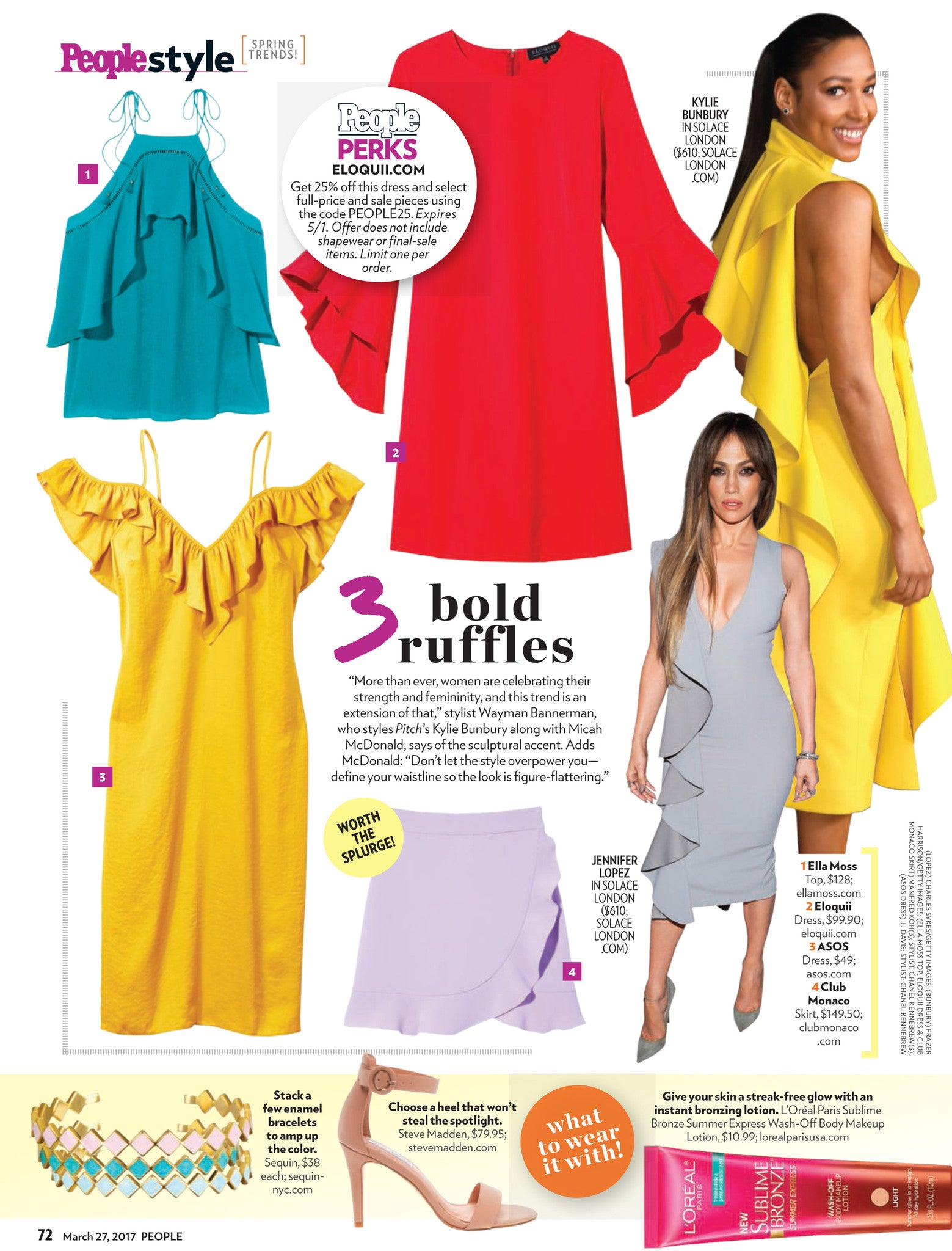Sequin Enamel Cuffs Featured in People Magazine