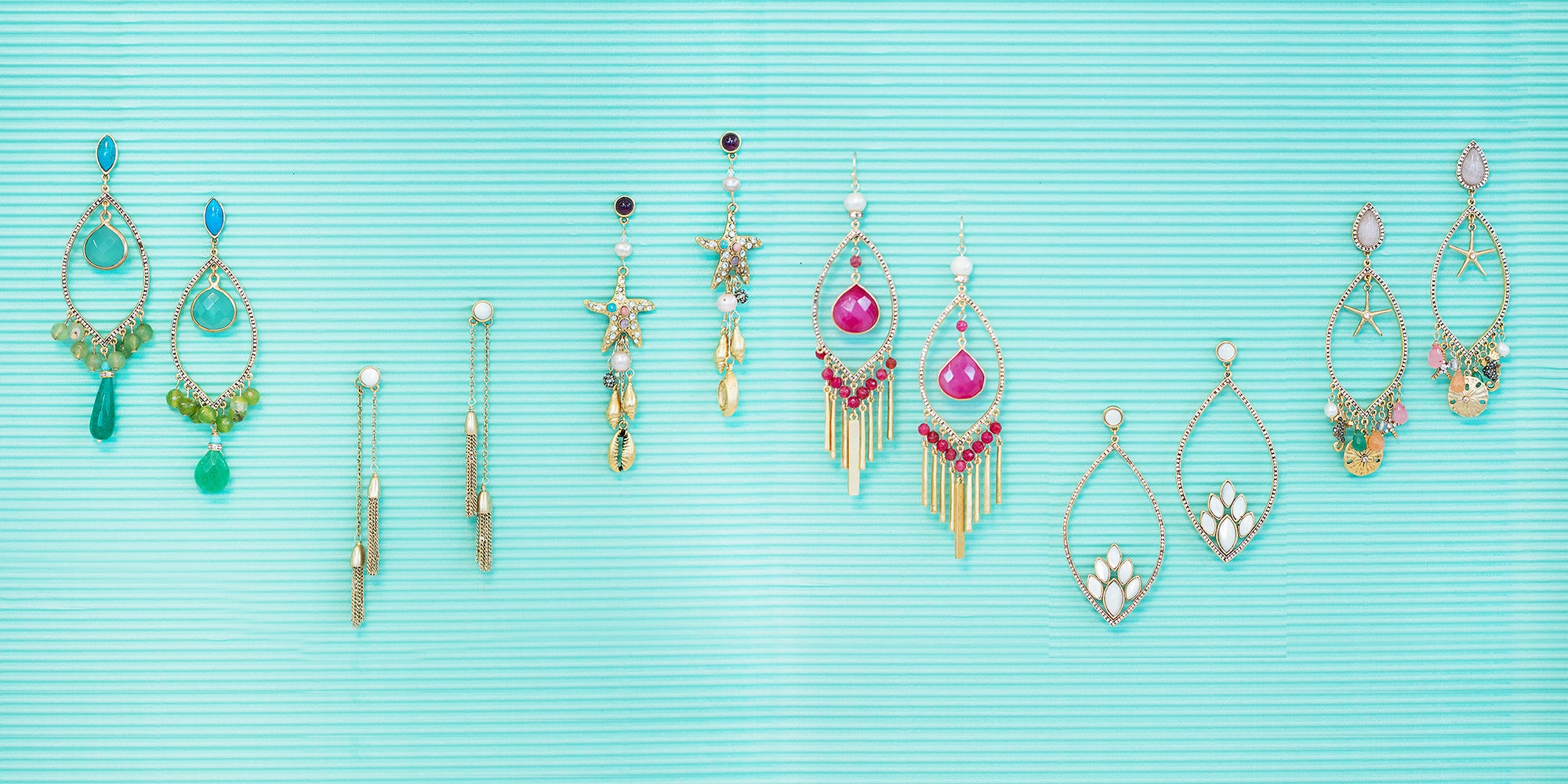 Tahiti Earrings Collection - Sequin Jewelry