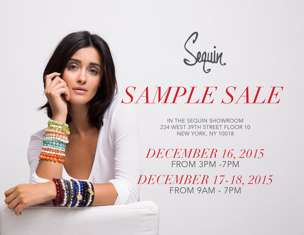 Sequin NYC Sample Sale December 16-18, 2015