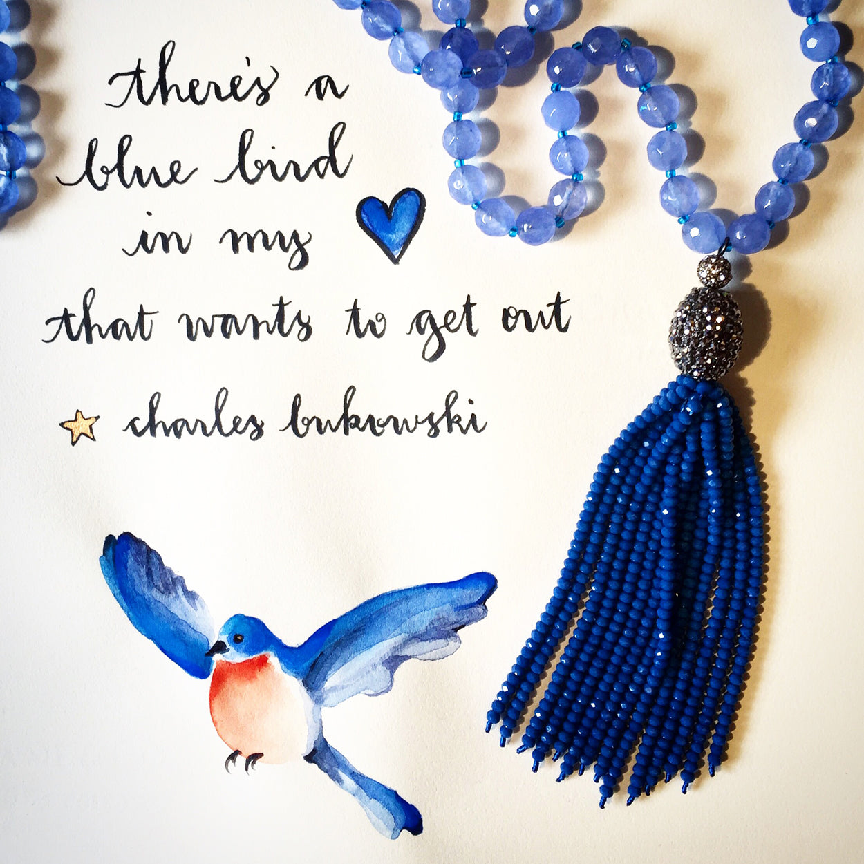 #SequinSayings - There's a Blue Bird in my Heart...