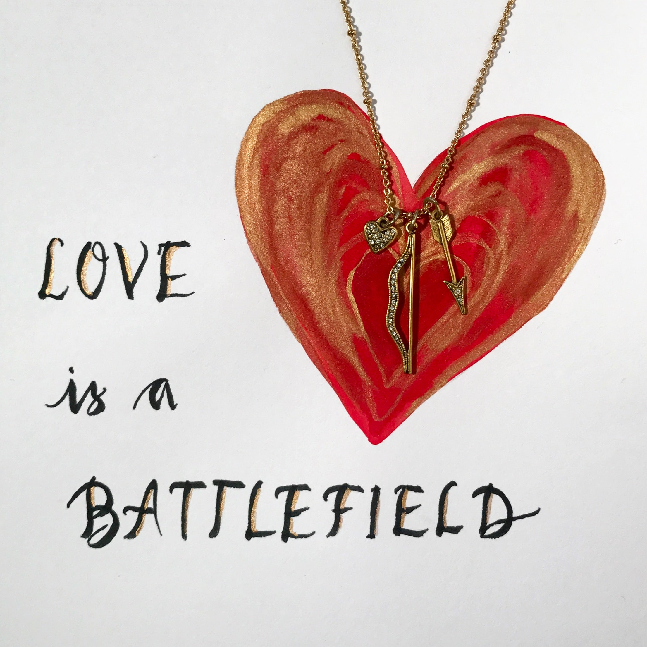 #SequinSayings - Love is a Battlefield