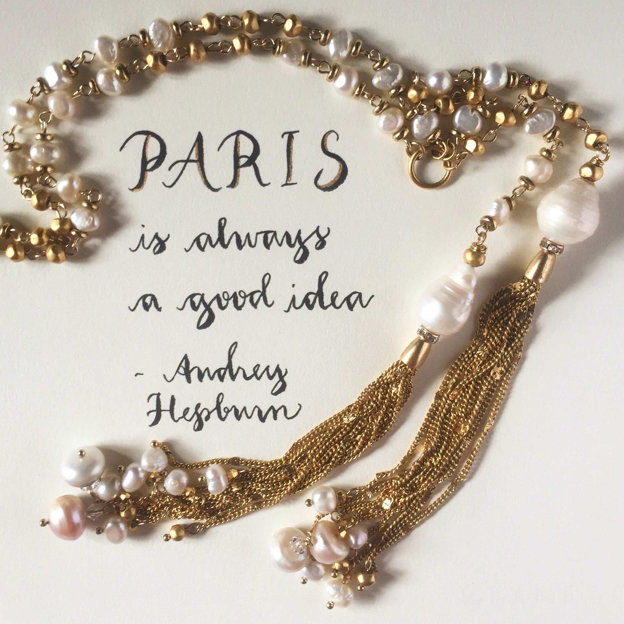 #SequinSayings featuring our Perla Necklace