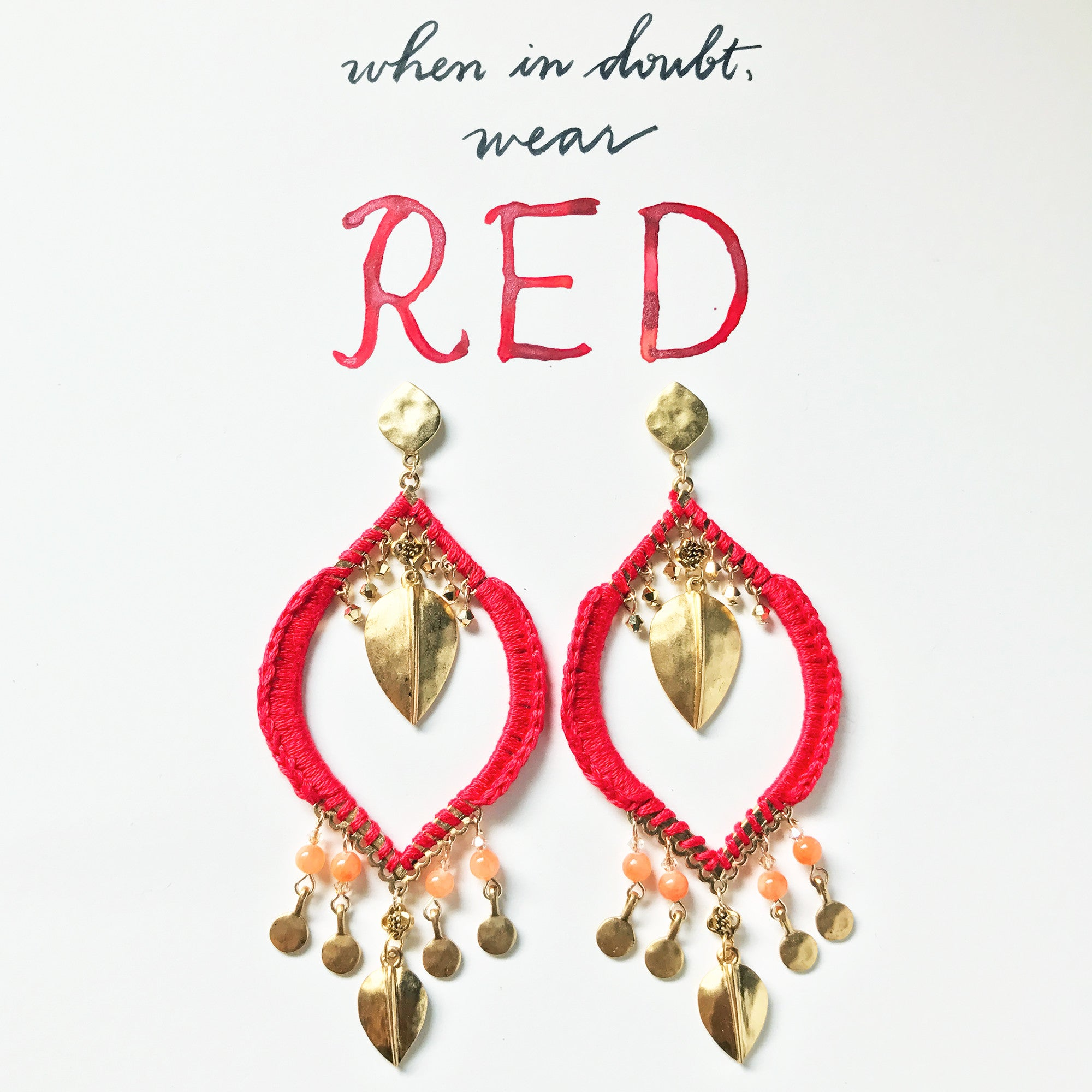 #SequinSayings - When in doubt, wear RED