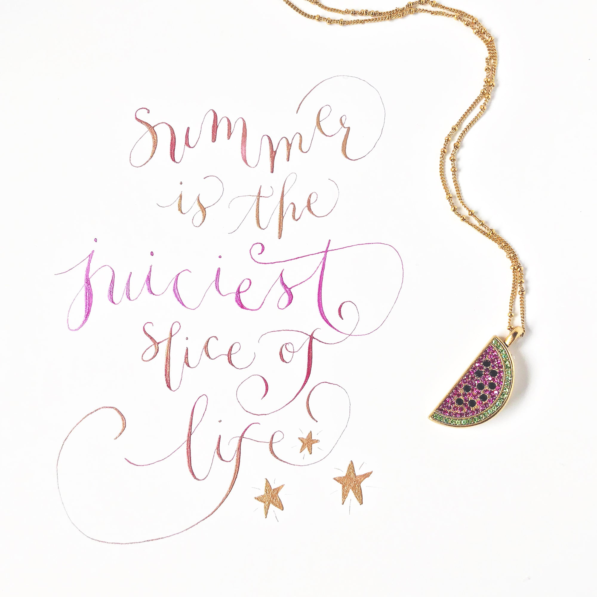 #SequinSayings - Summer is the Juiciest Slice of Life