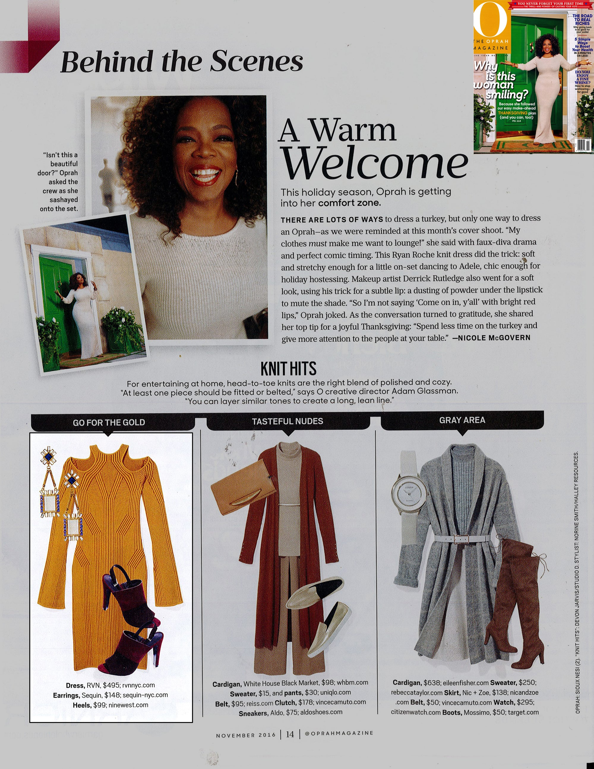 Sequin Featured in O, The Oprah Magazine