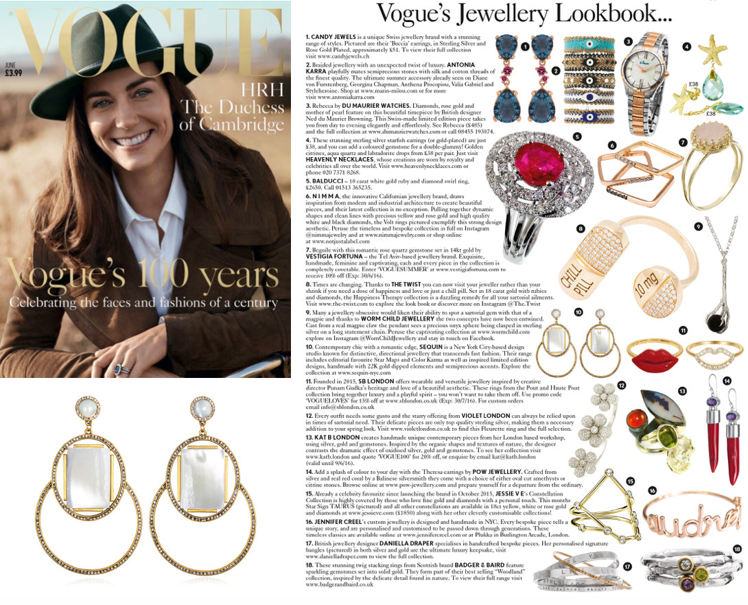 Sequin Marquesas Earrings Featured in British Vogue